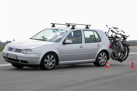 Test nosičů jízdních kol